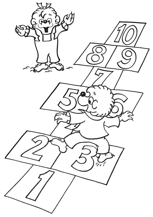 A Berenstain Bears num coloring pages