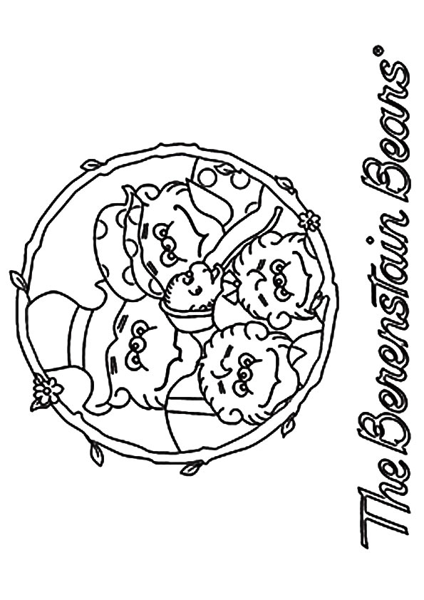 The berenstain a bears family portrait coloring pages