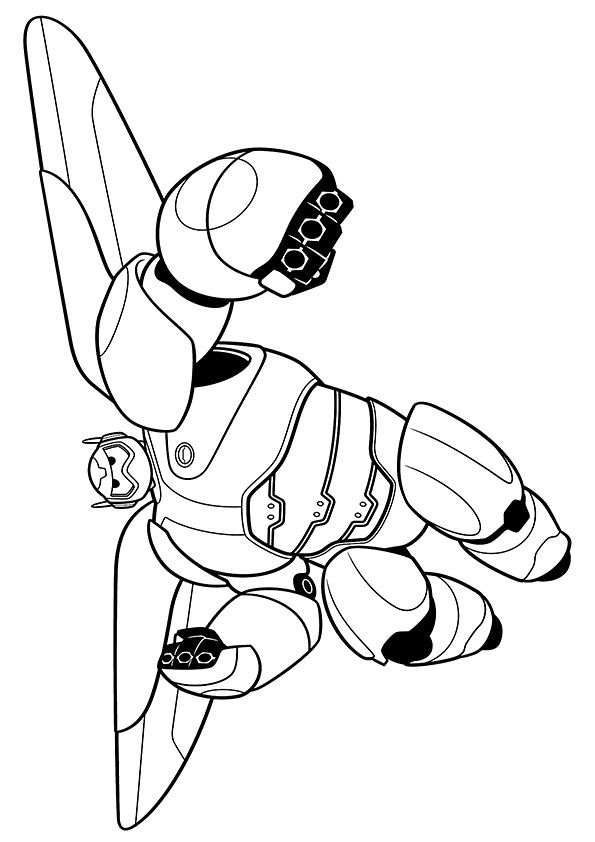 Baymax 2.0 coloring pages