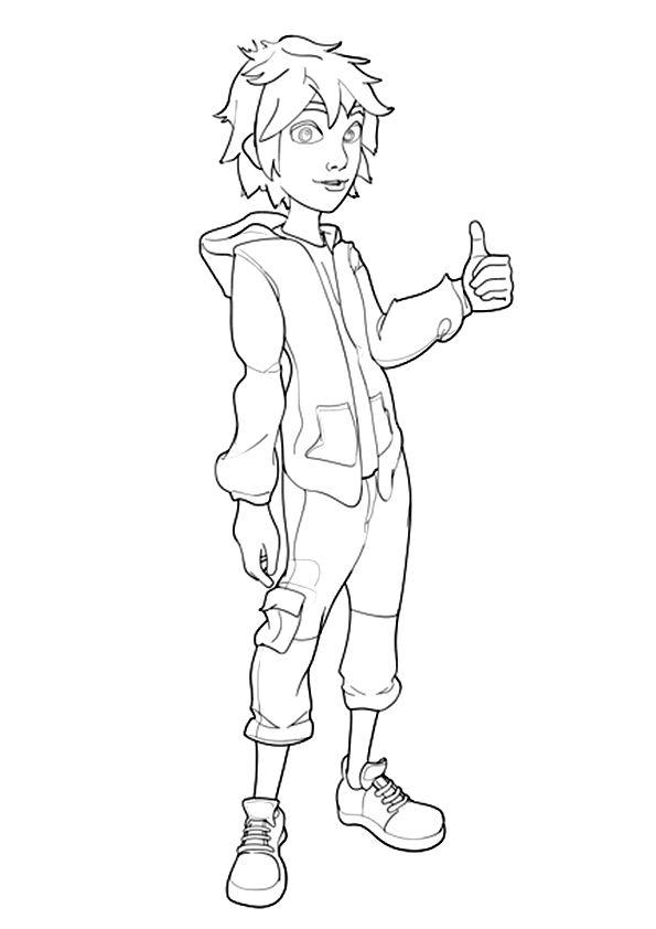 Hiro Hamada coloring pages