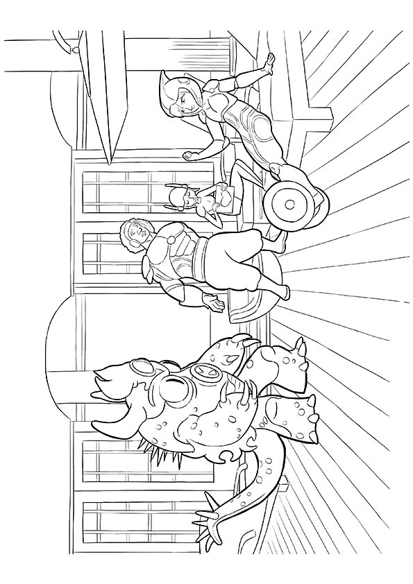 Resting Superhero coloring pages