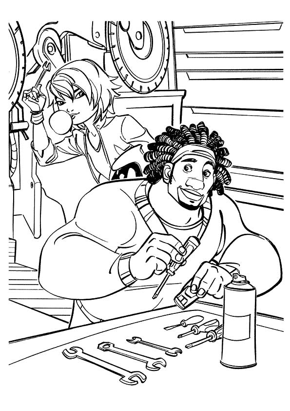 Wasabi & Tomago coloring pages