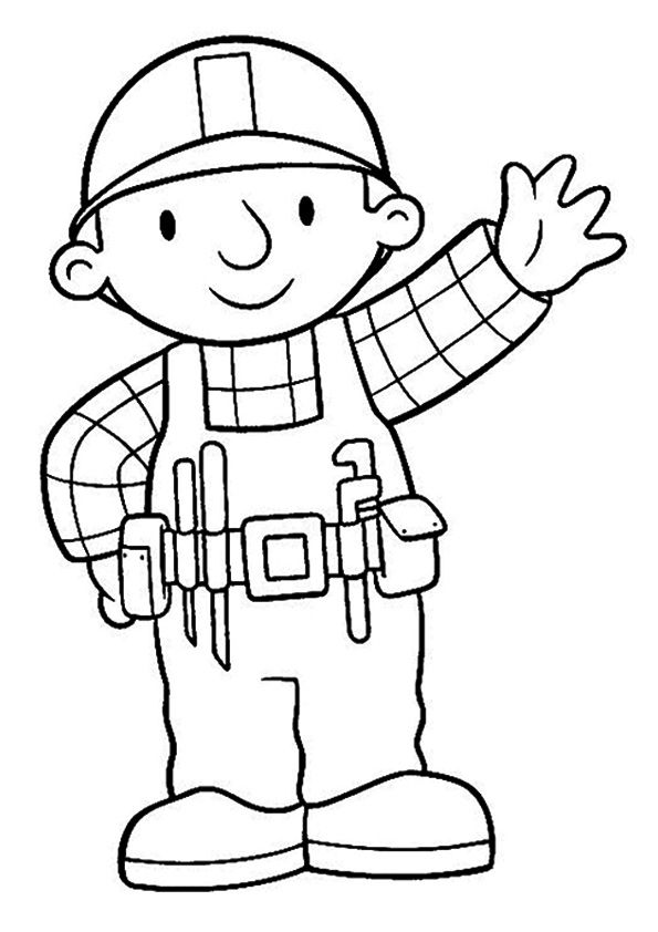 The bob the builder coloring pages