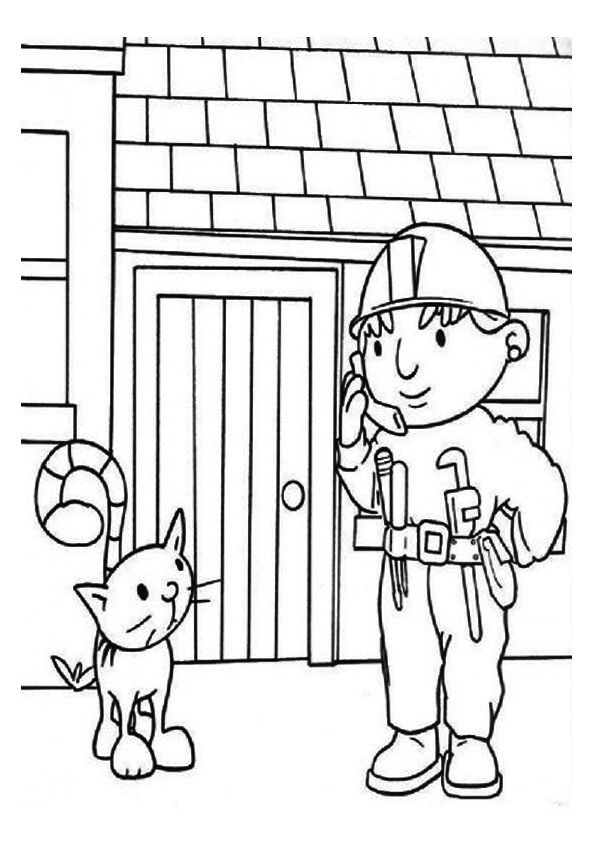 Parentune Free Printable Bob The Builder Coloring Pages Bob The Builder Coloring Pictures For Preschoolers Kids