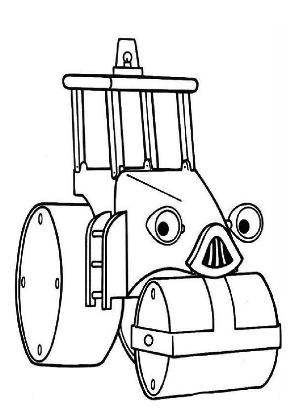 The roley road roller coloring pages