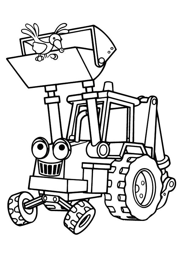The scoop digging machine coloring pages