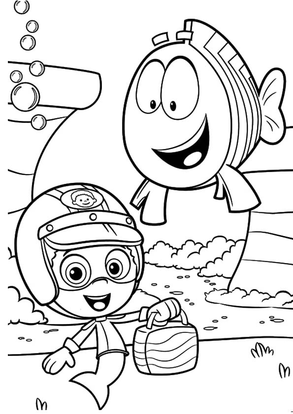 Bubble Guppies Fish coloring pages