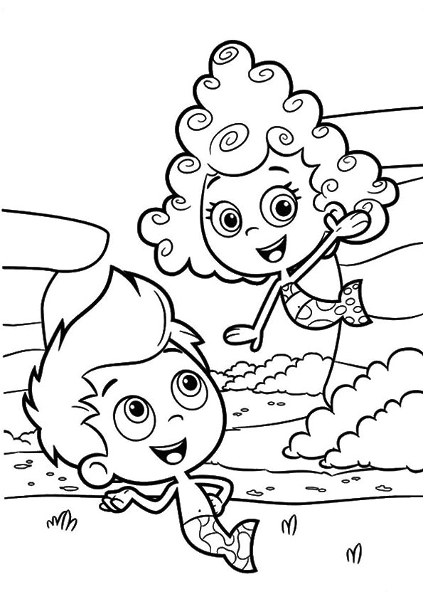 Couple Guppies coloring pages