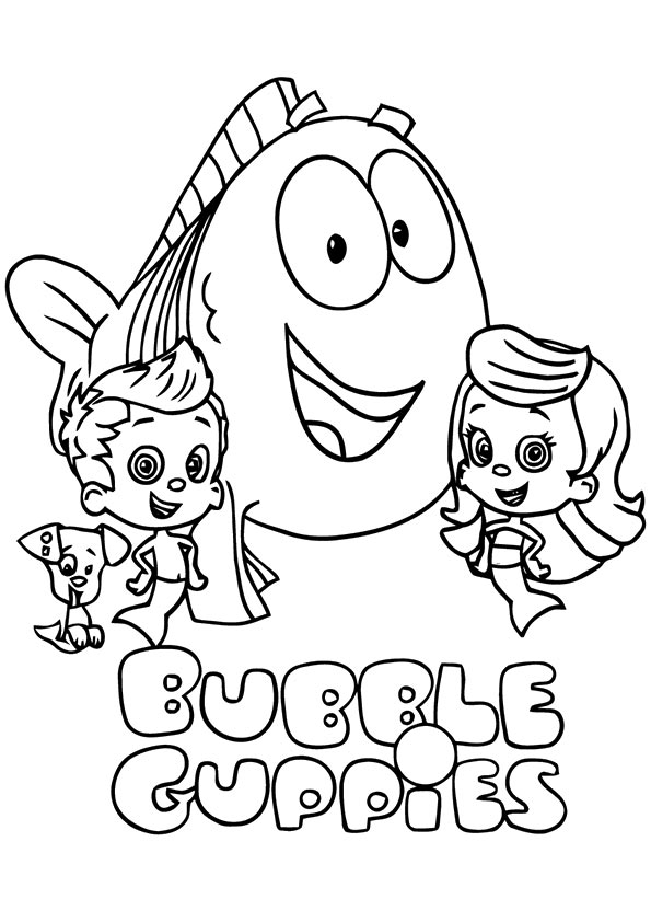 Bubble Guppies Laufing coloring pages