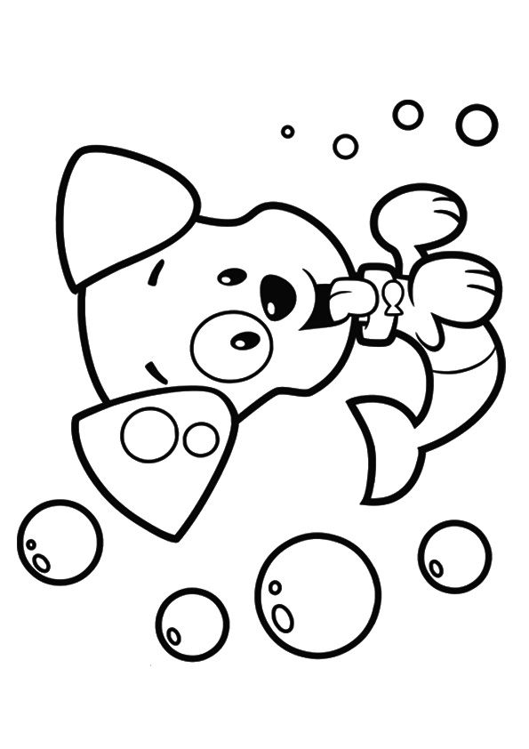 Bubbly Puppy coloring pages