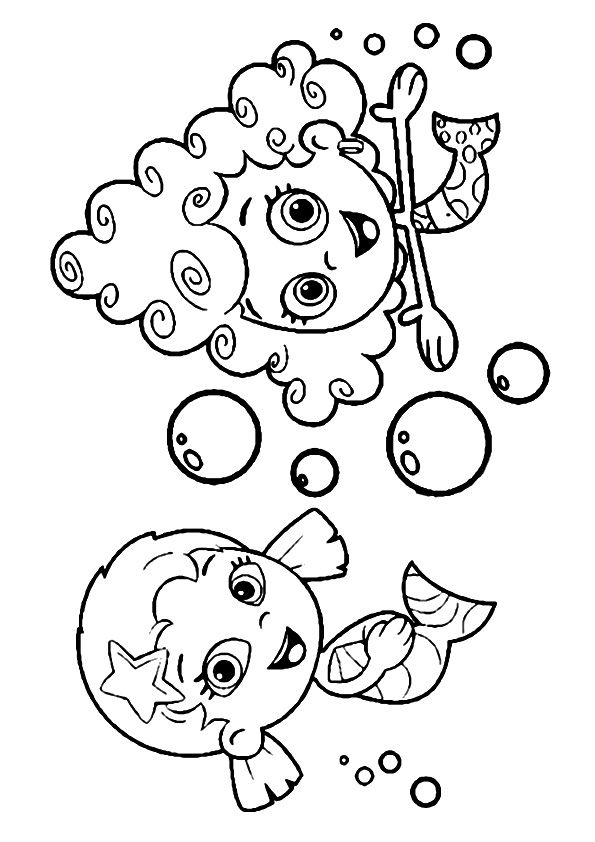 Deema and Oona coloring pages