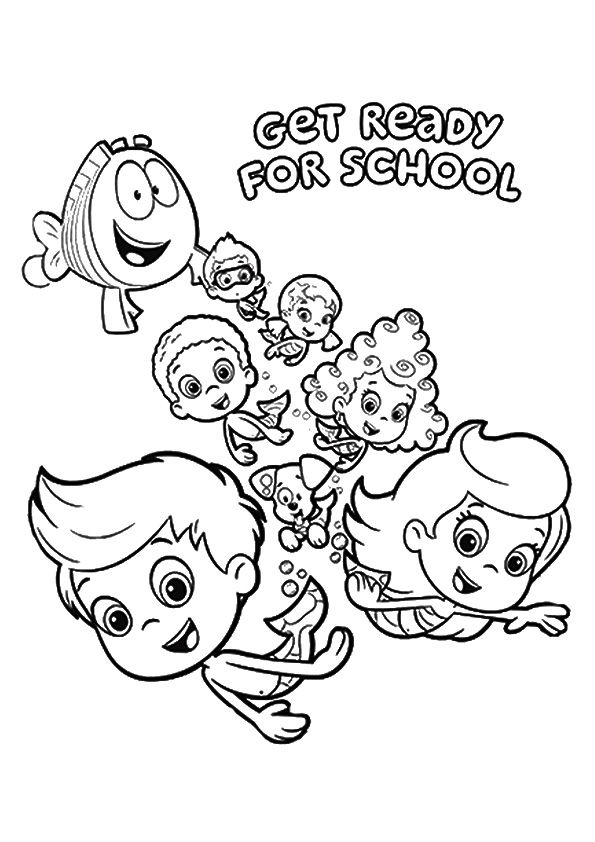 Guppies Gang coloring pages