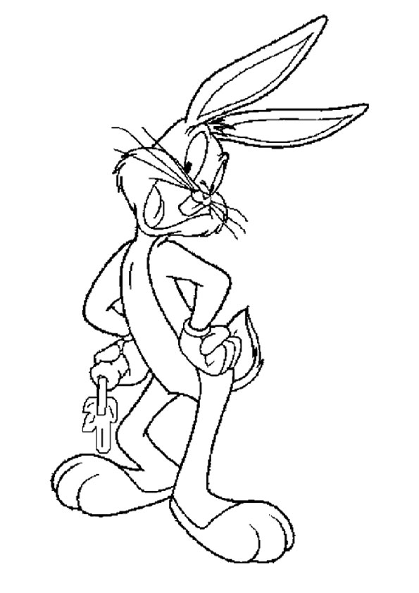 Dancing Bugs Bunny  coloring pages