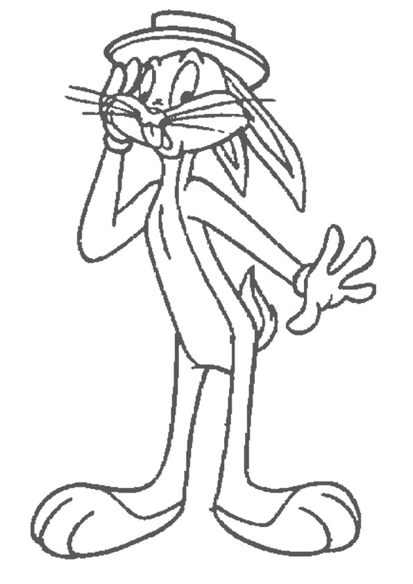 Bugs Bunny in Hat coloring pages