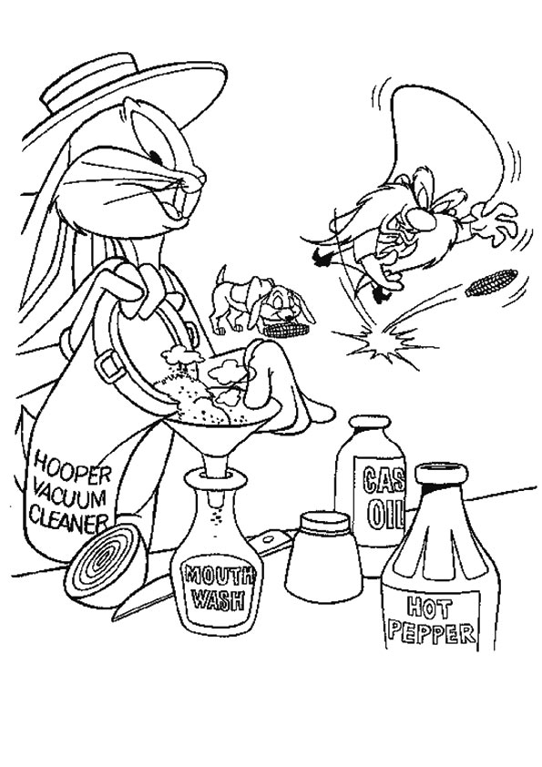 Homely Bugs Bunny coloring pages