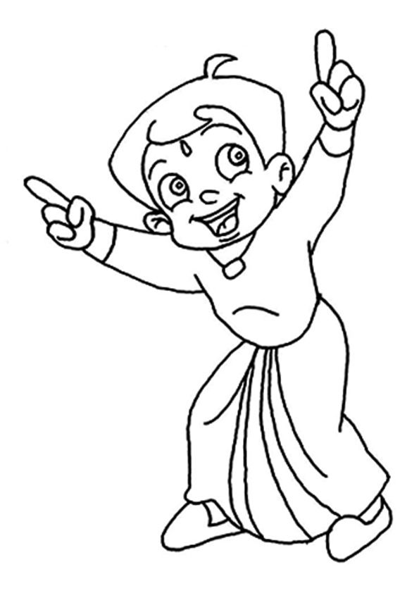 Laughing Chhota Bheem coloring pages