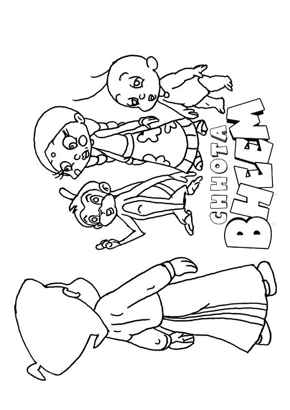 Chhot Bheem & Jaggu coloring pages
