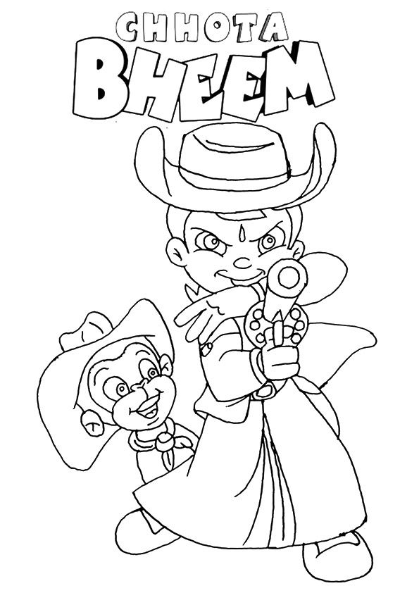 Shooter Chhota Bheem coloring pages