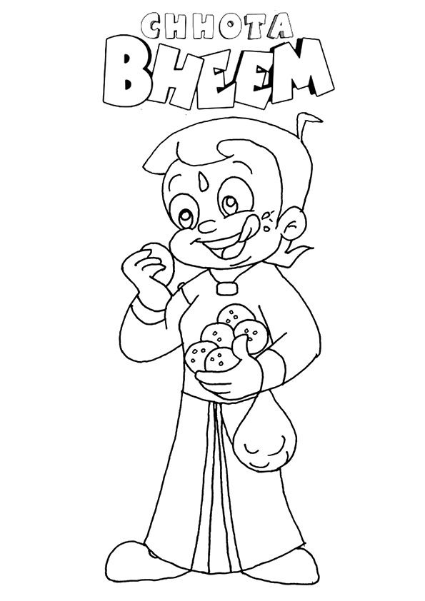Chhota Bheem Eating coloring pages