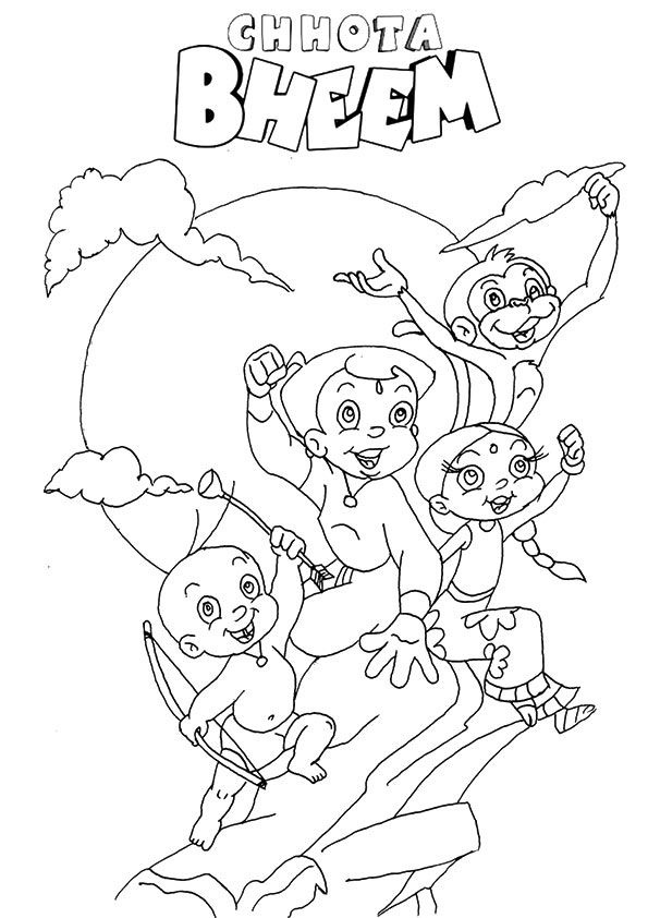 Chhota Bheem & Jaggu 2 coloring pages