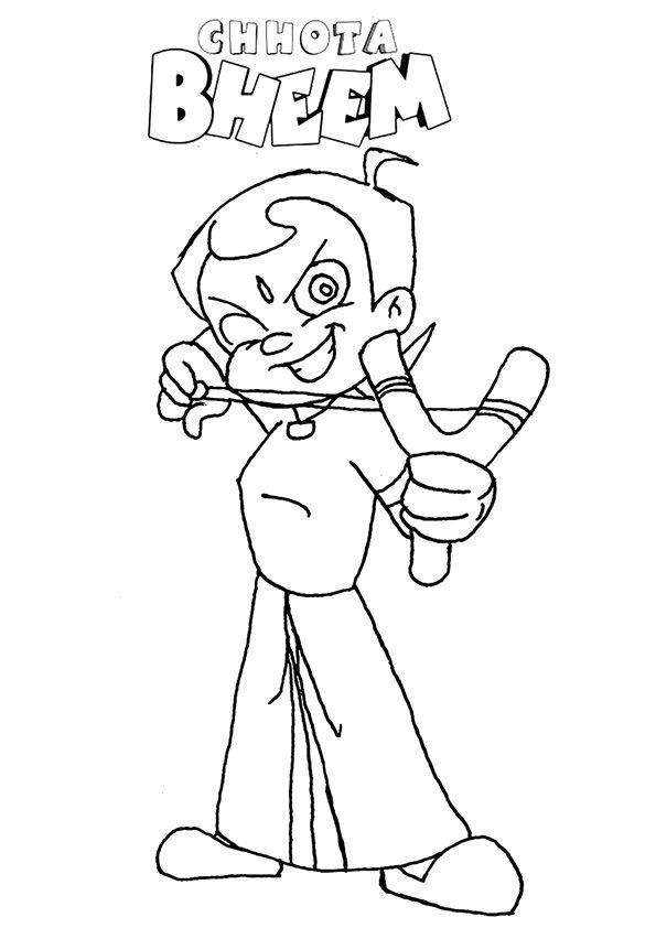 Chhota Bheem Shooting coloring pages