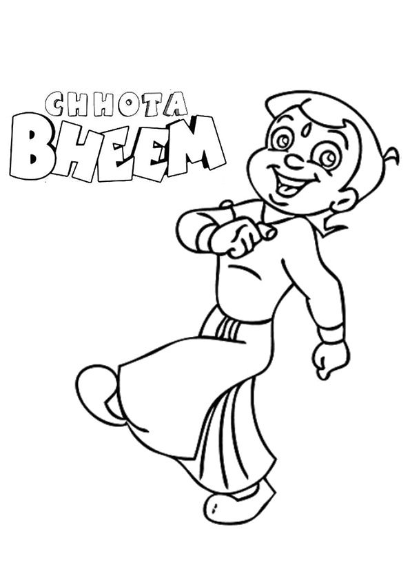 Chota Bheem For Kid coloring pages