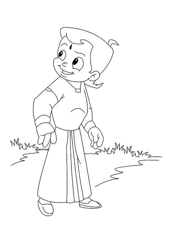 Chhota Bheem Connect Dots 2 coloring pages