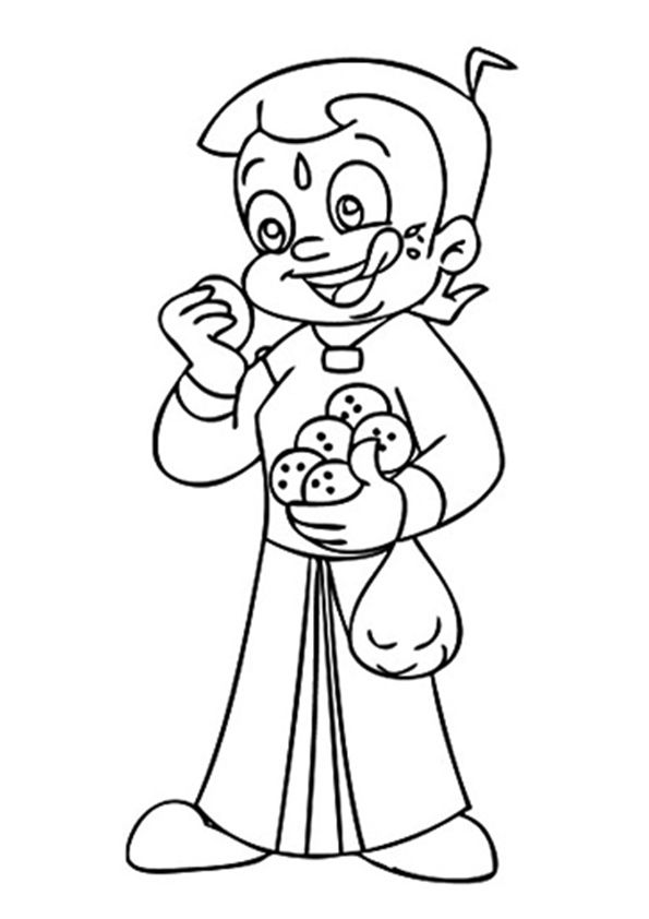 Ladoo Lover Chhota Bheem  coloring pages