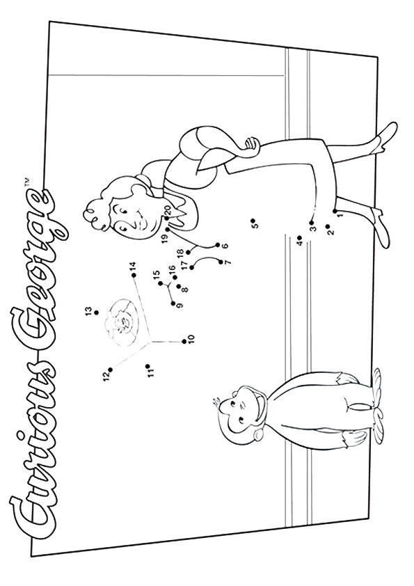 Curious George Birthday Coloring Pages - Get Coloring Pages | 842x595