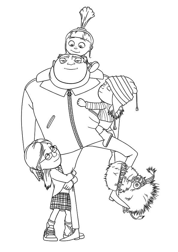 A despicable me coloring pages st