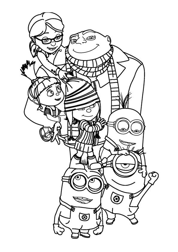 Despicable Me coloring page coloring pages