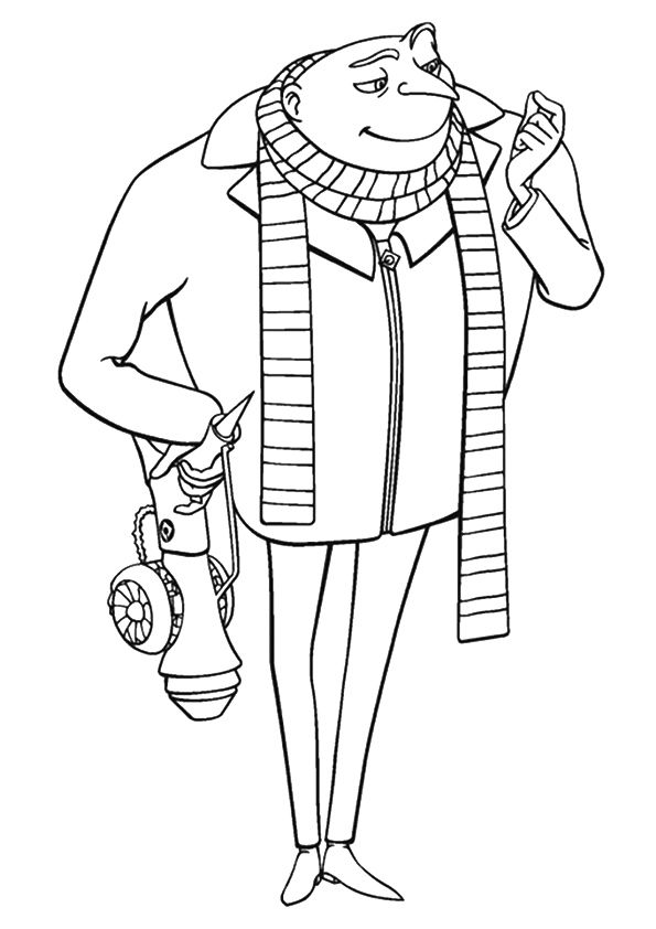 The gru coloring pages
