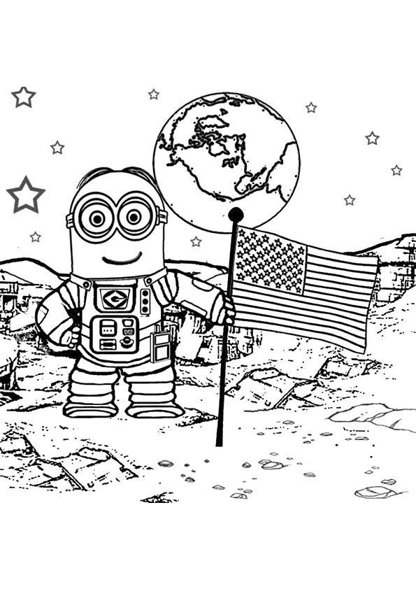 Walking on the moon astronaut