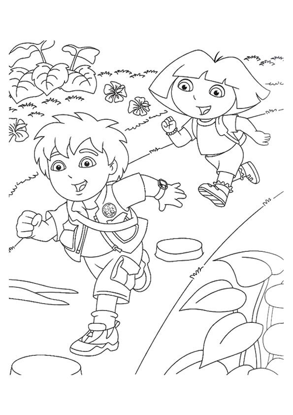 Diego & Alicia coloring pages
