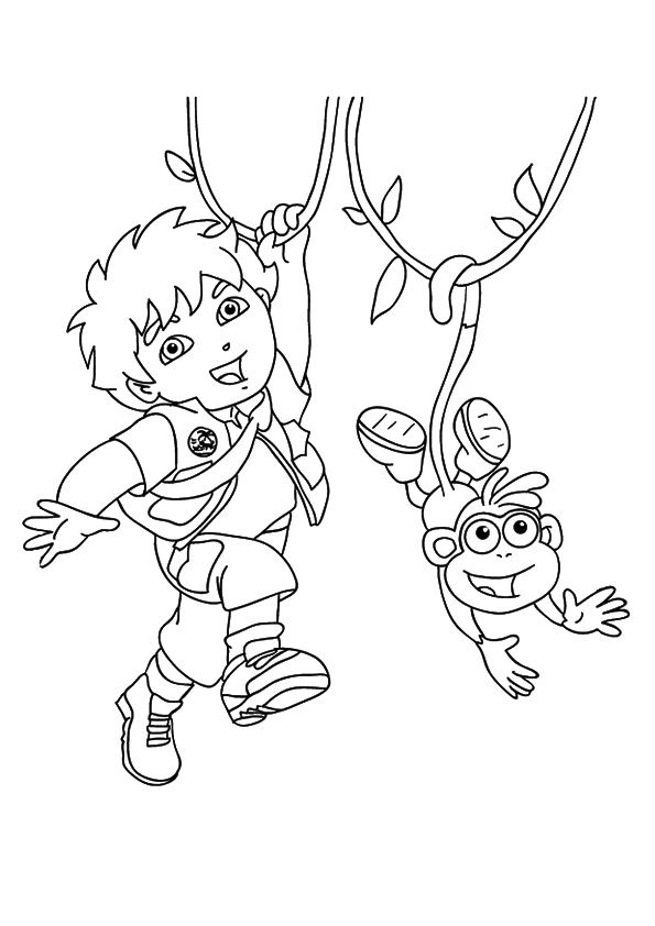 Diego & Boots coloring pages