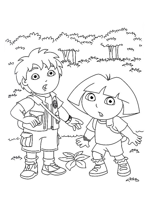 Diego & Ddora coloring pages