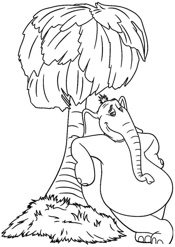 Horton the Elephant coloring pages