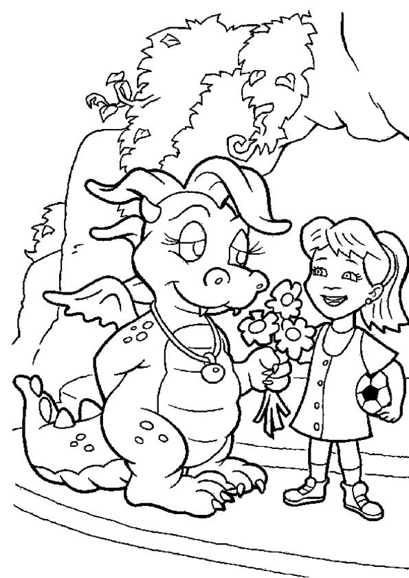 Dragon Tales flowers coloring pages