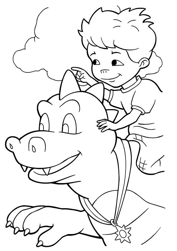 Dragon Tales Coloring sky coloring pages