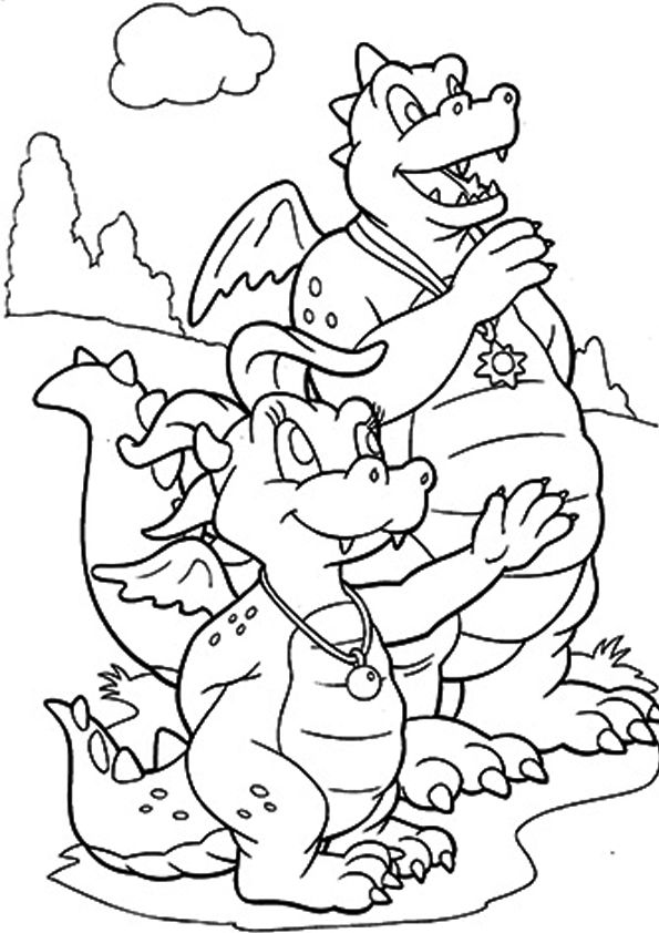 Waving Goodbye coloring pages