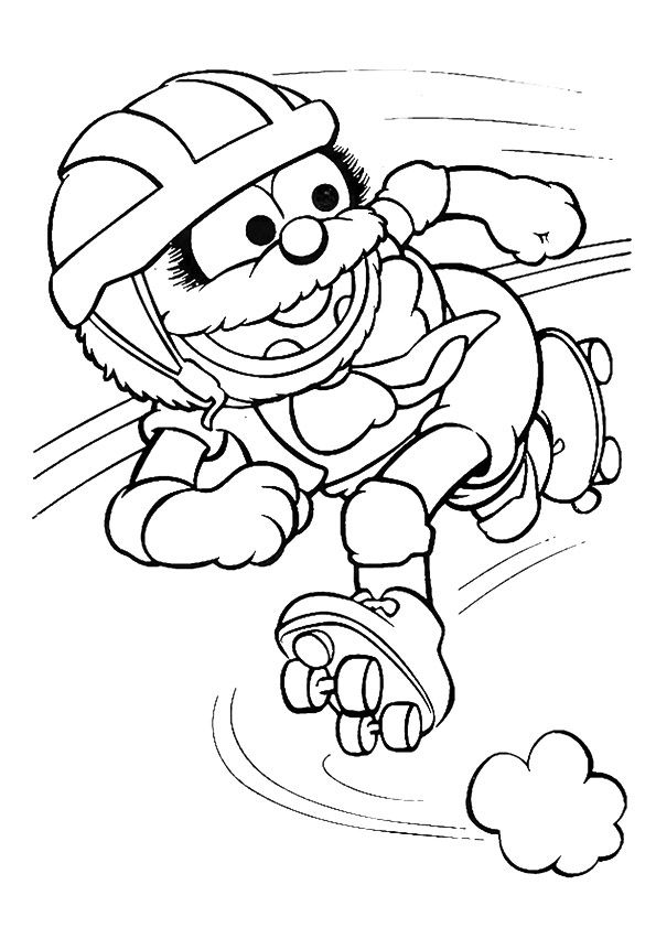 The elmo on skates coloring pages
