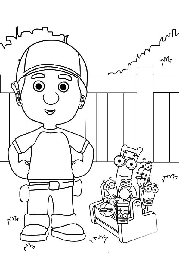 A Handy Manny and Friends Taking coloring pages