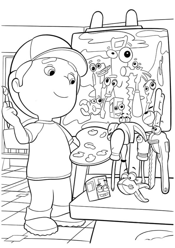 A handy manny brash coloring pages