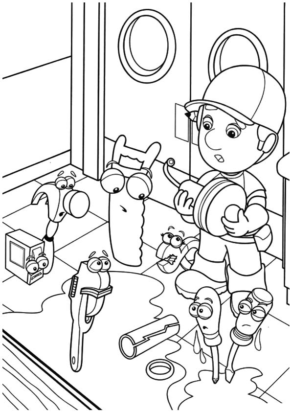 A handy manny cap coloring pages