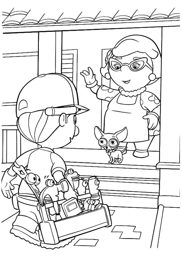 A handy manny cat coloring pages