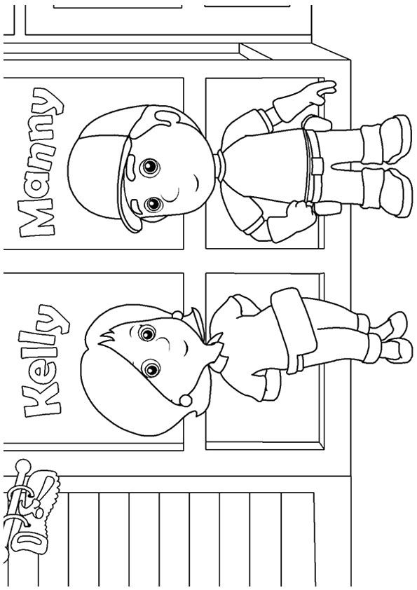 A handy manny coloring kelly