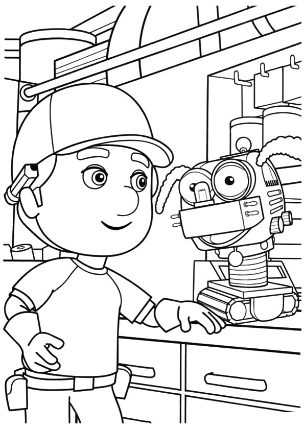 A handy manny hall coloring pages