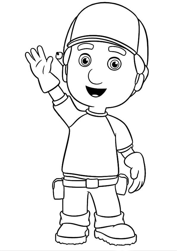 A handy manny tata coloring pages