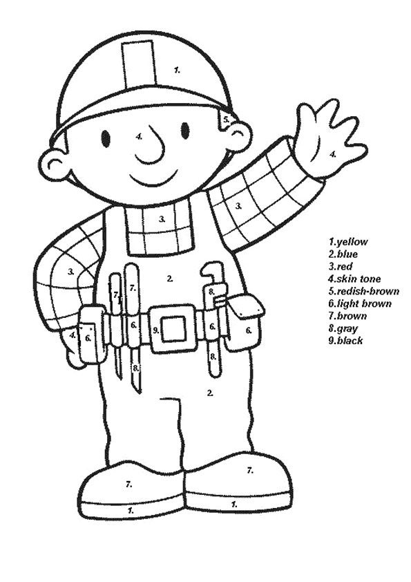 A high resolution cartoon handy manny coloring pages