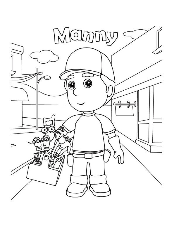 The handy manny coloring pages